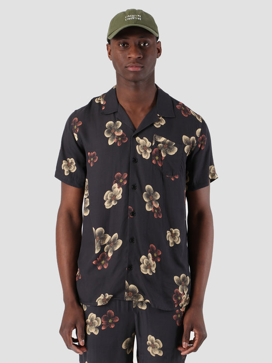 Libertine Libertine Cave Shortsleeve Shirt Dark Flowers 1632