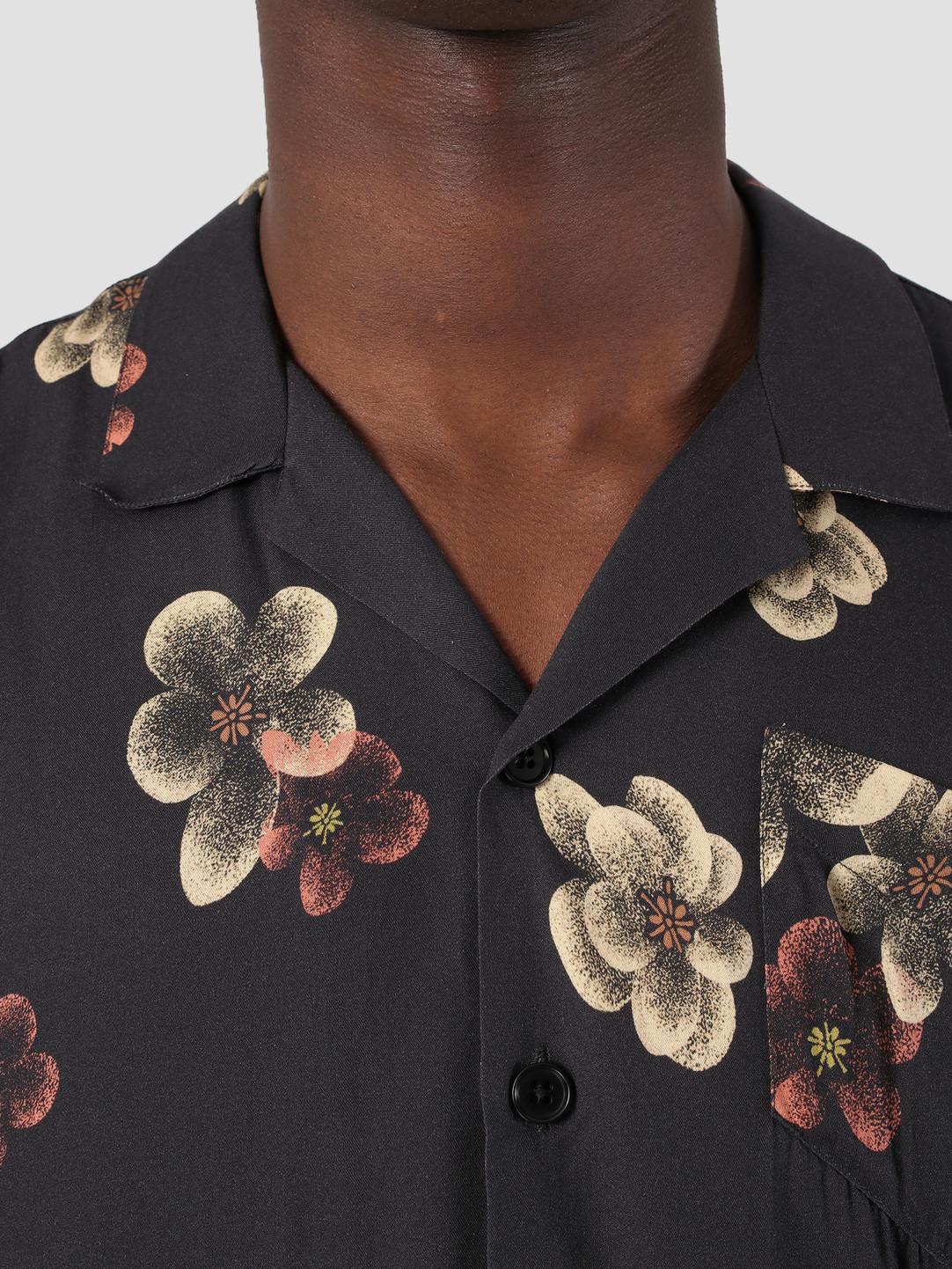Libertine Libertine Libertine Libertine Cave Shortsleeve Shirt Dark Flowers 1632