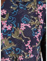 Libertine Libertine Libertine Libertine Cave Shortsleeve Shirt Navy Dragon 1671