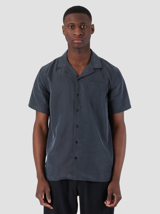 Libertine Libertine Cave Shortsleeve Shirt Dark Navy 931