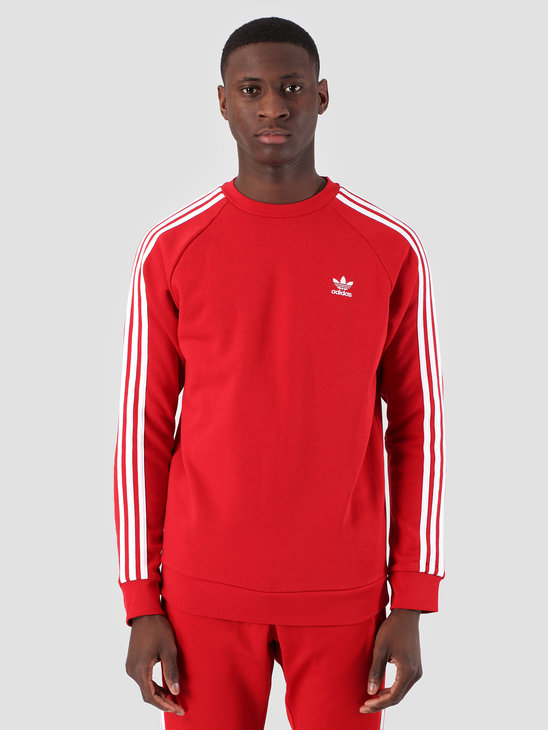 adidas 3-Stripes Crewneck Power red DV1553