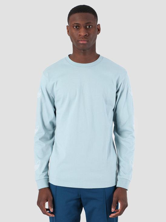 adidas Longsleeve Trefoil T-Shirt Ashgre White DV3153
