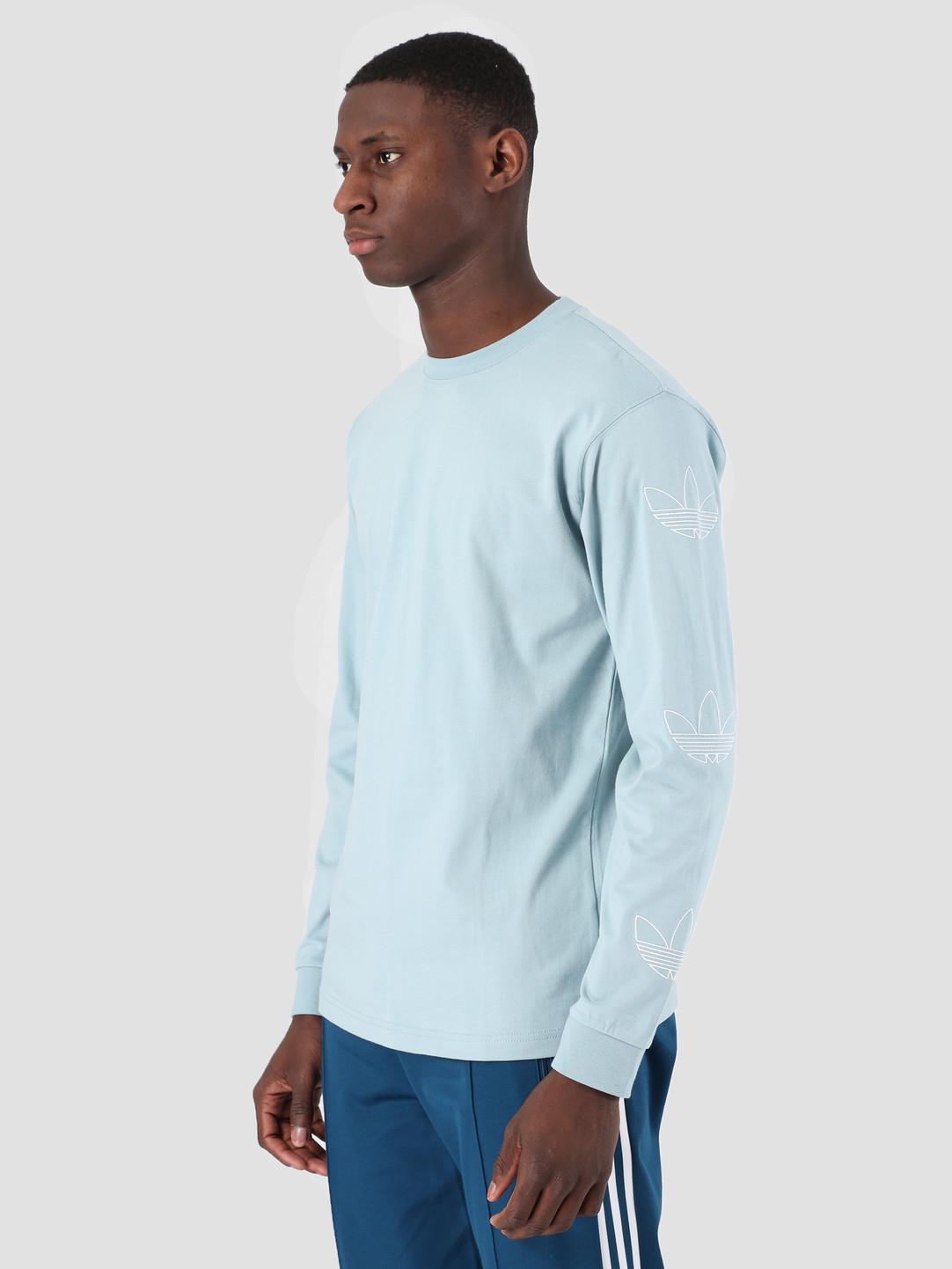 adidas adidas Longsleeve Trefoil T-Shirt Ashgre White DV3153