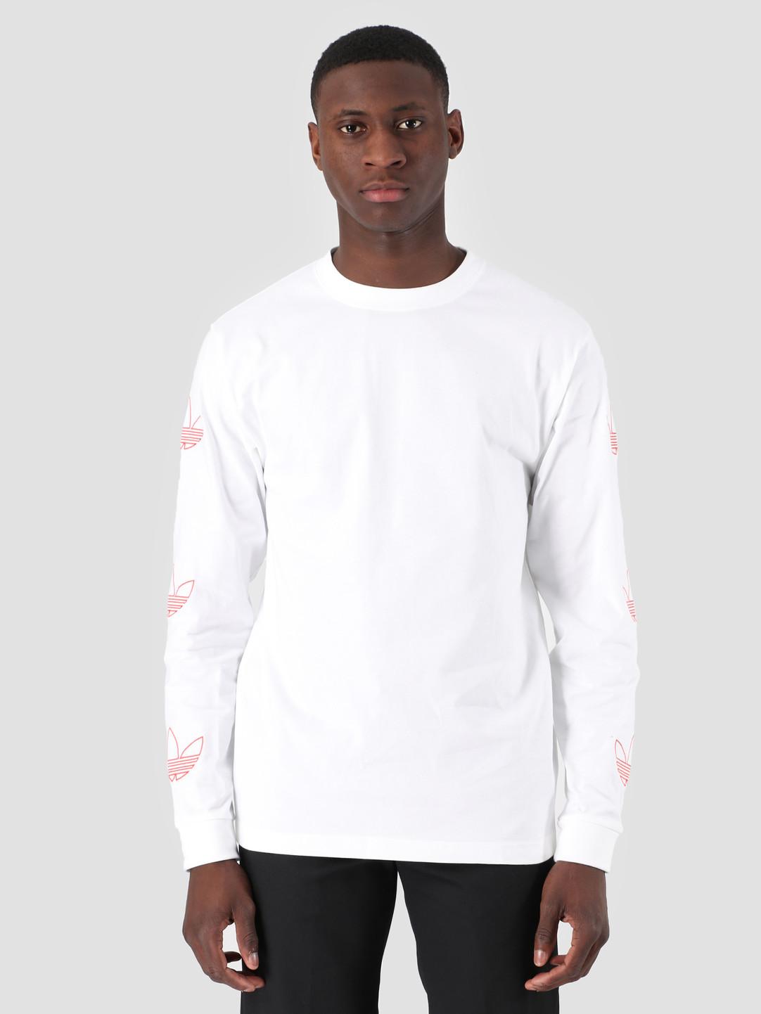 045c482fbdb8f0 adidas Longsleeve Trefoil T-Shirt White Rawamb DV3151 | FRESHCOTTON