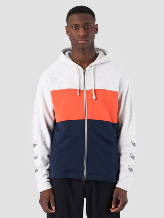 adidas Full Zip Hoody Grey Navy DV3145