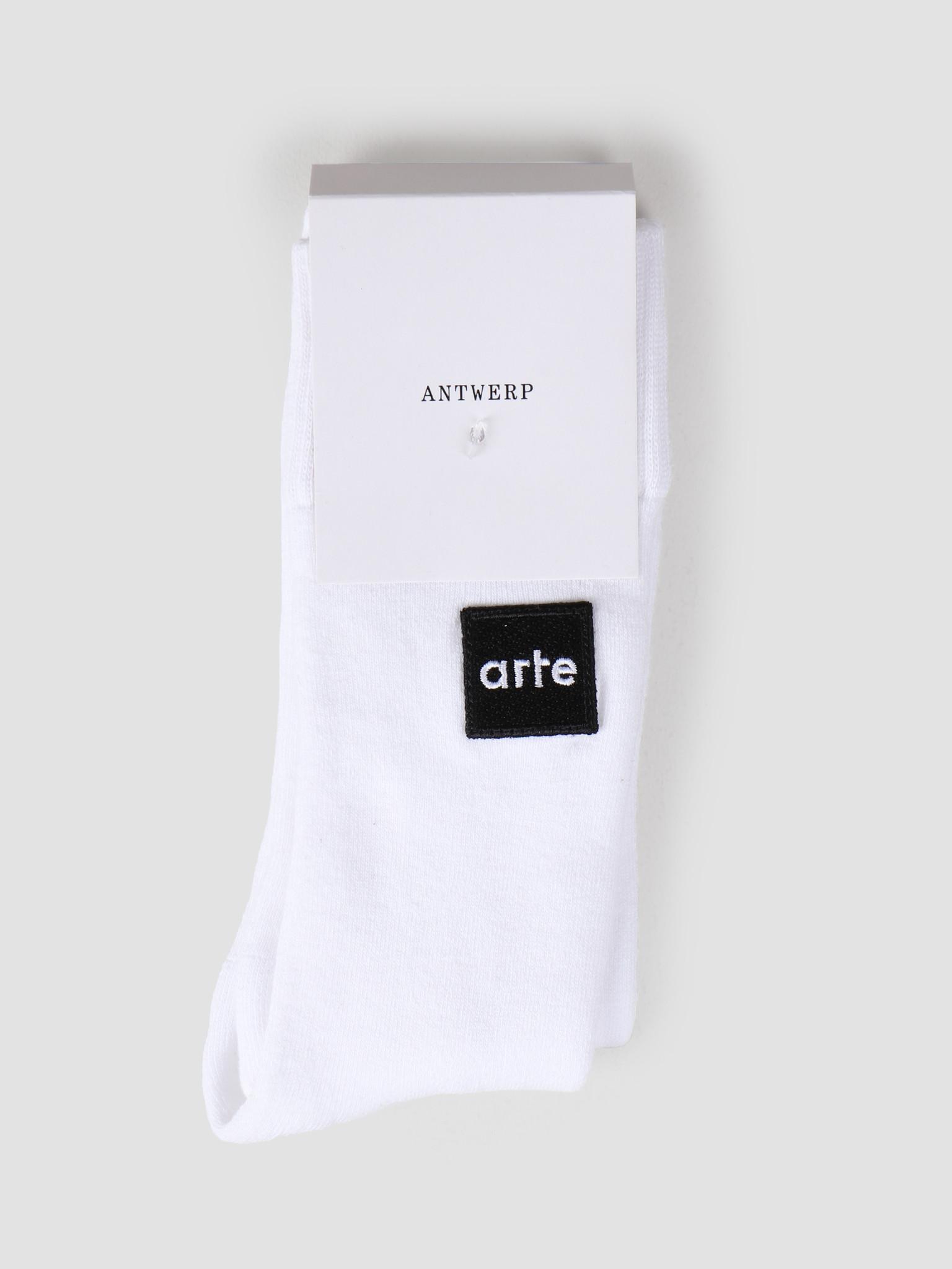 Arte Antwerp Arte Antwerp Patch Sock White 3513964