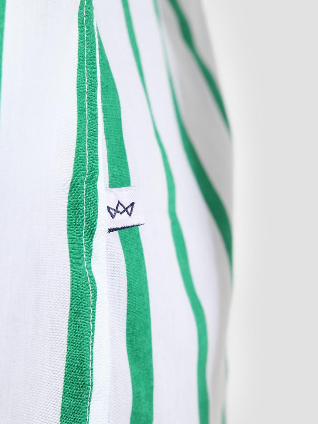Kronstadt Kronstadt Cuba Short Sleeve Shirt Gr.88 White Green KS2669