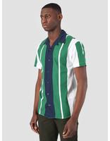 Kronstadt Kronstadt Cuba Short Sleeve Shirt Gr.90 White Green Navy KS2671