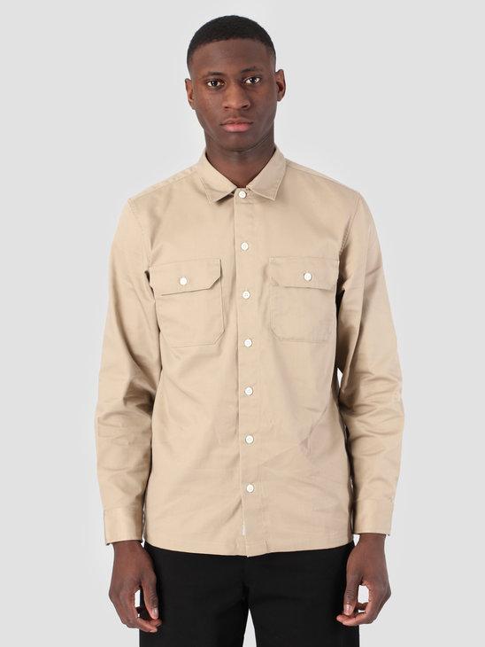 Carhartt WIP Longsleeve Master Shirt Rinsed Wall I023774