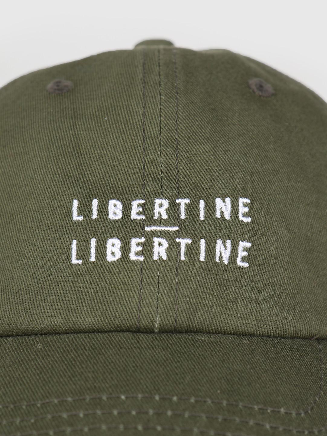 Libertine Libertine Libertine Libertine Cap W Logo Green Khaki W White 560