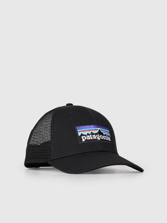 Patagonia P 6 Logo LoPro Trucker Hat Black 38016