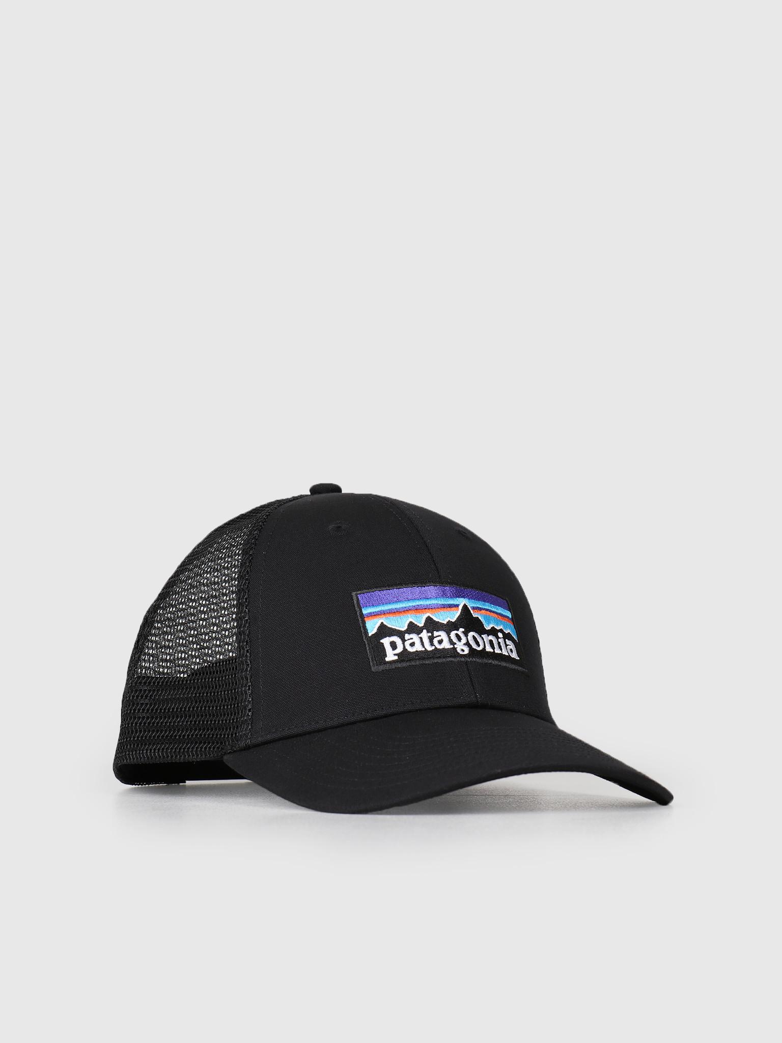 e0f81efd67 Patagonia Patagonia P 6 Logo LoPro Trucker Hat Black 38016