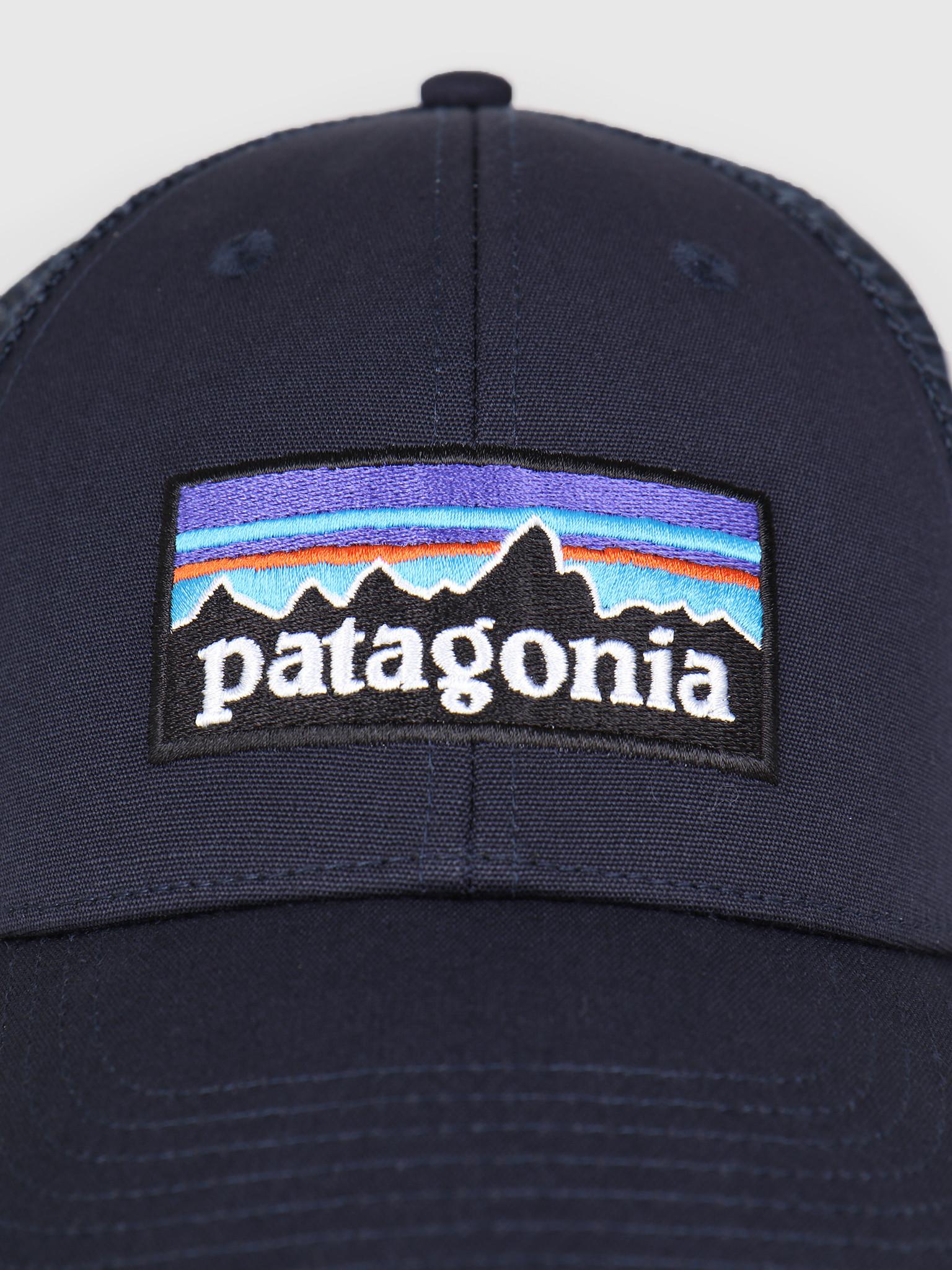 c3debf54c95 Patagonia Patagonia P 6 Logo LoPro Trucker Hat Navy Blue w Navy Blue 38016
