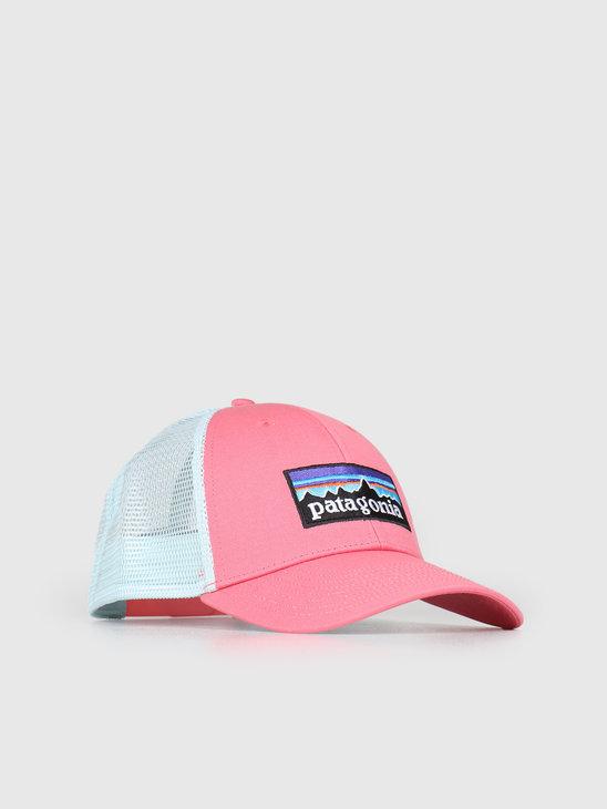 Patagonia P 6 Logo LoPro Trucker Hat Sticker Pink 38016