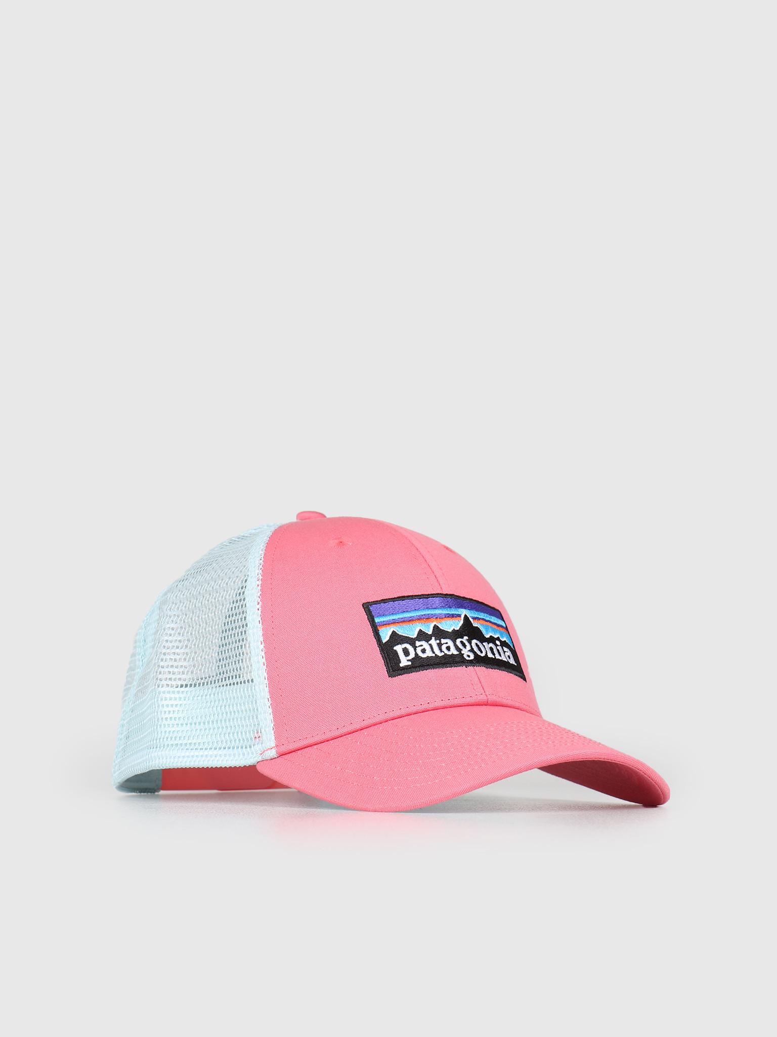 c36c6cfb0da49 Patagonia Patagonia P 6 Logo LoPro Trucker Hat Sticker Pink 38016