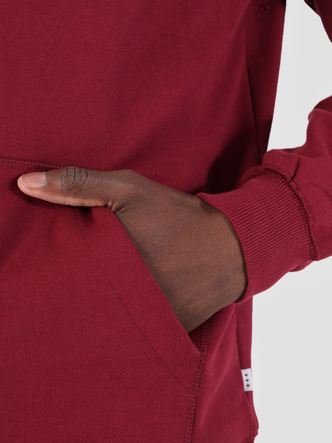 Quality Blanks Quality Blanks QB93 Classic Hoodie Burgundy Red