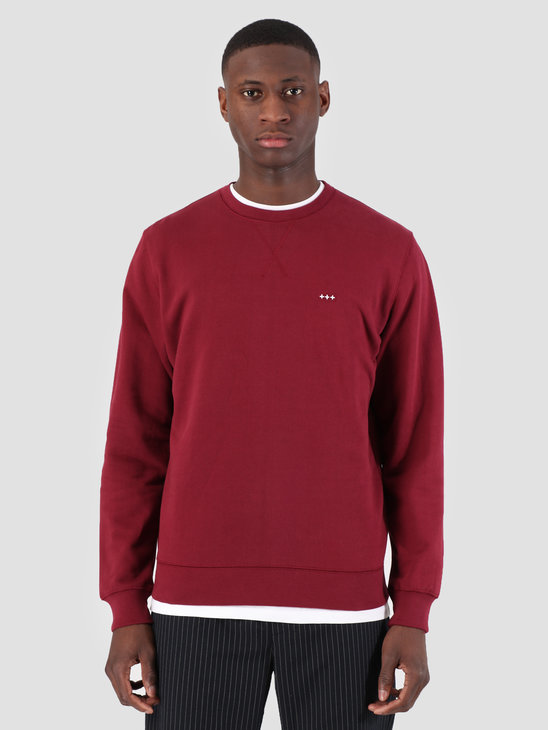 Quality Blanks QB94 Classic Crewneck Burgundy Red