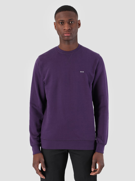 Quality Blanks QB94 Classic Crewneck Egg Plant Purple