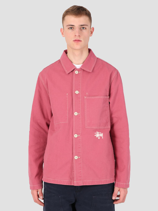 Stussy Canvas Shop Jacket Rose 0624