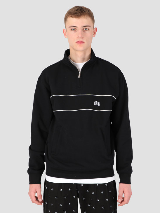 Obey Johnny Mock Neck Zip BKM 111620046