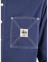 Stussy Stussy Oxford Work Longsleeve Shirt Navy 0806