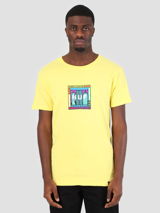 HUF Gift Shop Box Logo T-Shirt Aurora Yellow TS00587