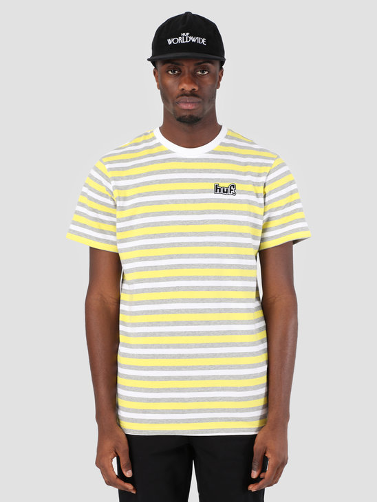HUF Rockaway Knit T-Shirt Aurora Yellow KN00091