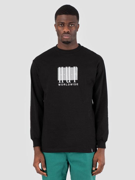 HUF Linear Longsleeve Black TS00578