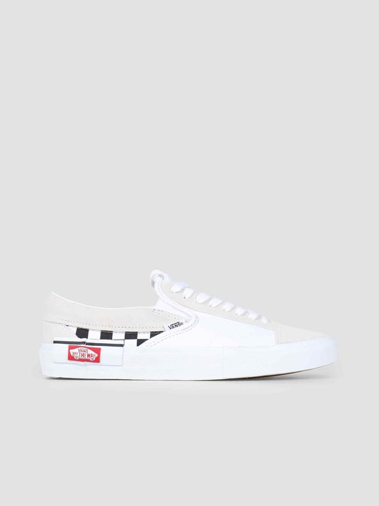 Vans UA Slip-On Cap Checkerboard True White Black Vn0A3Wm527I1