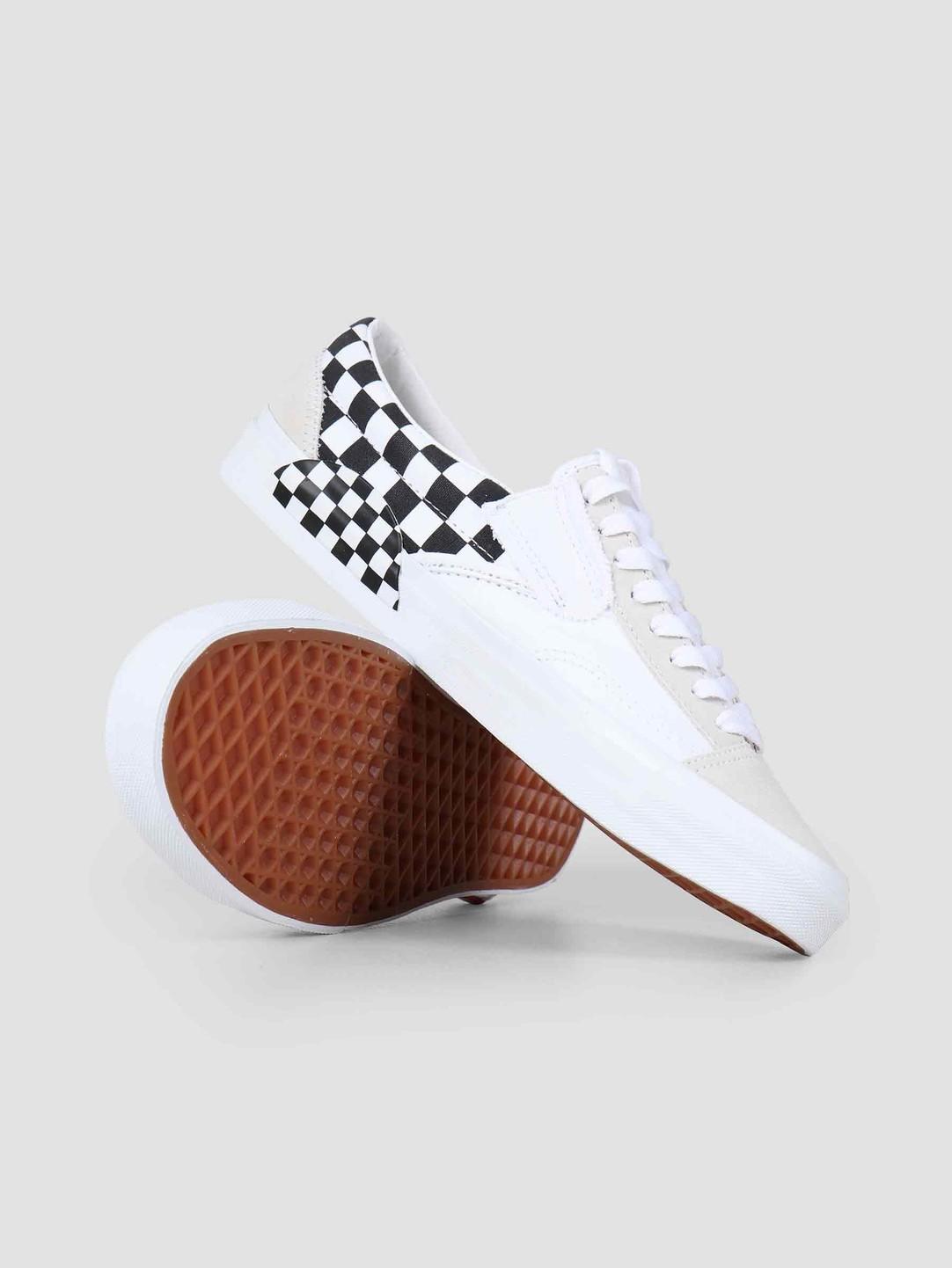 Vans Vans UA Slip-On Cap Checkerboard True White Black Vn0A3Wm527I1