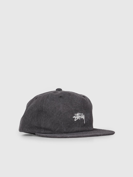 Stussy Stock Washed Canvas Cap Black 0001
