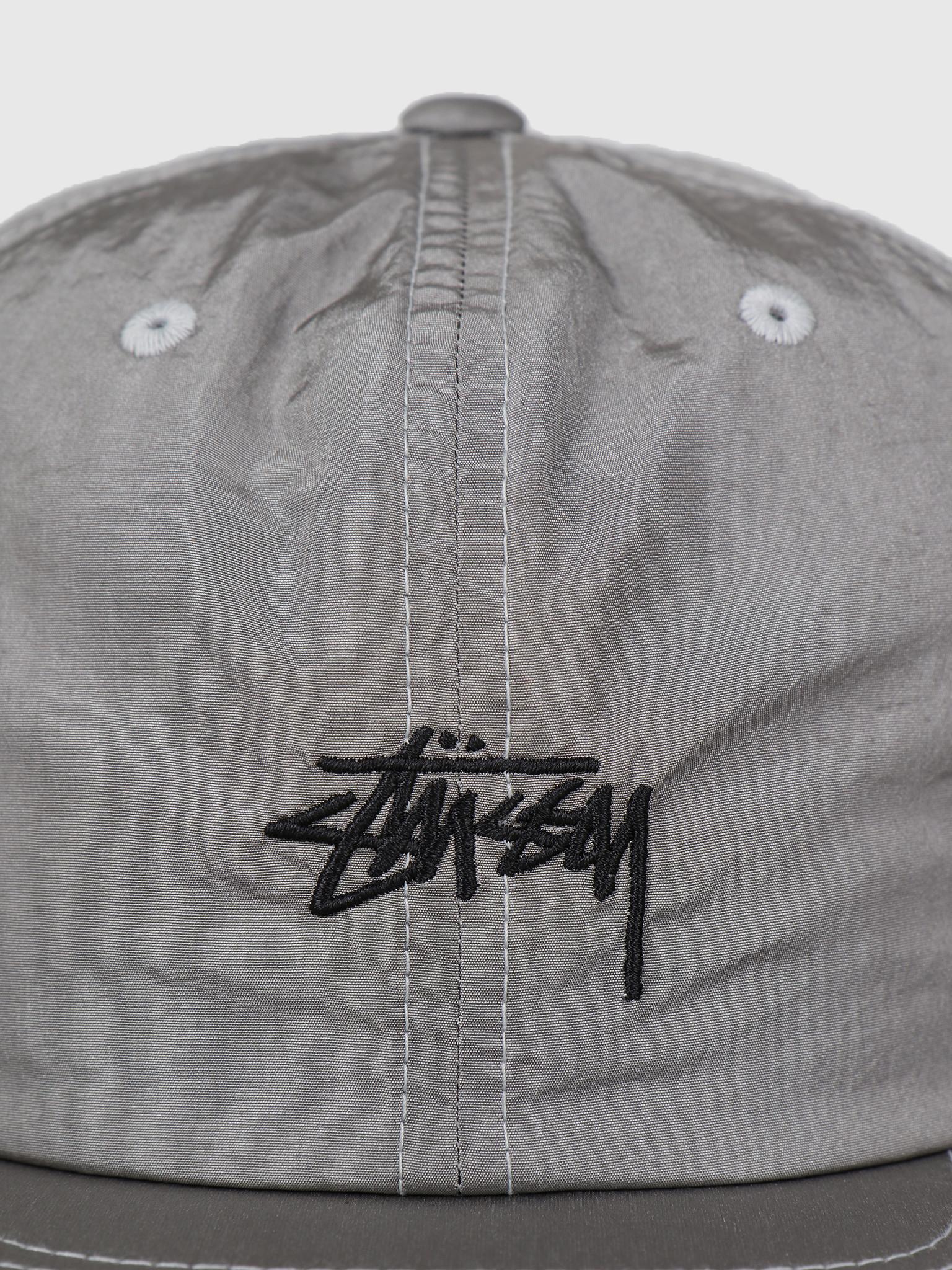 Stussy Stussy Stock Nylon Strapback Cap Silver 0012