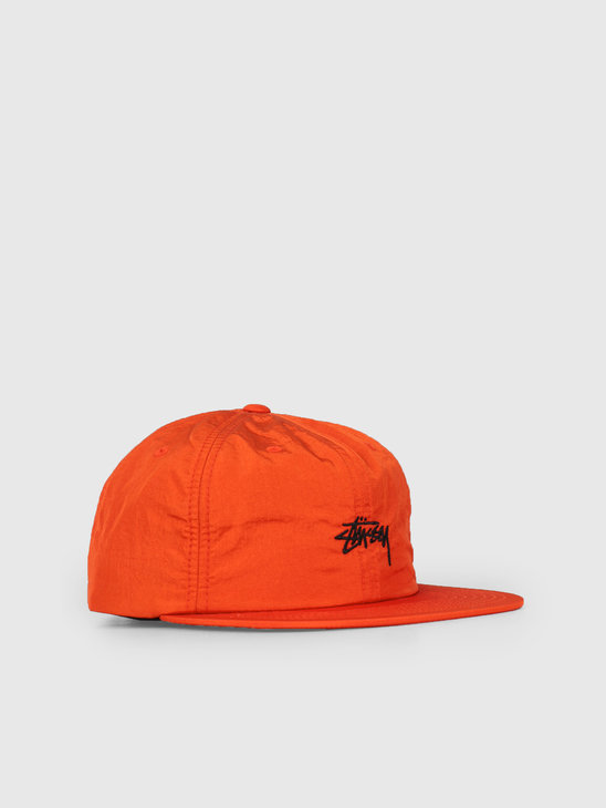 Stussy Stock Nylon Strapback Cap Orange 0602