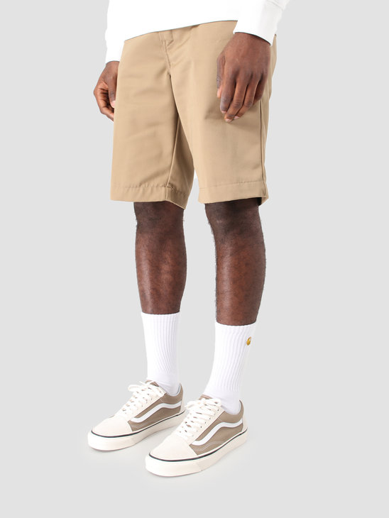 Carhartt WIP Master Short Rinsed Leather I021160