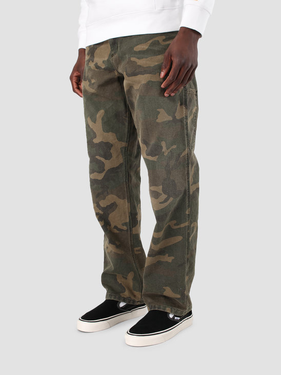 Carhartt WIP Single Knee Pant Aged Canvas Camo Laurel I026463