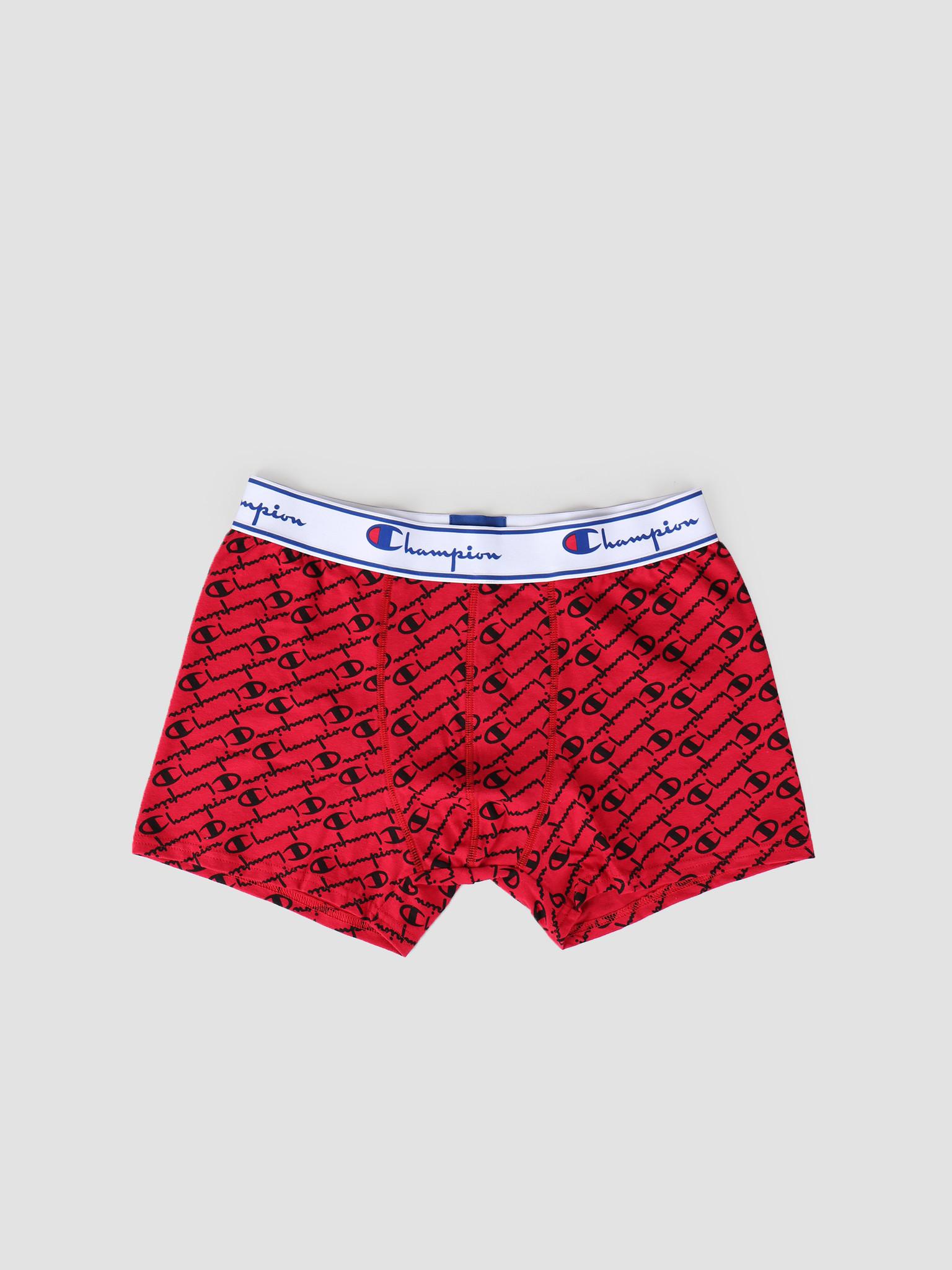 Champion Champion Boxer Cotton Mix Logo Print Red Black 372002