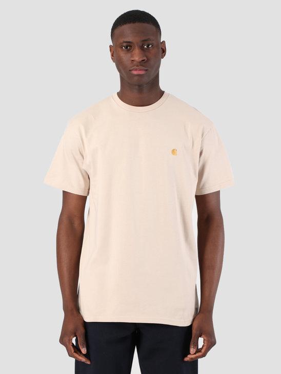 Carhartt WIP Short Sleeve Chase T-Shirt Boulder Gold 61091000