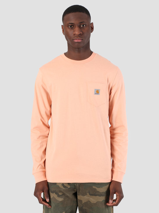 Carhartt WIP Long Sleeve Pocket T-Shirt Peach 61091000