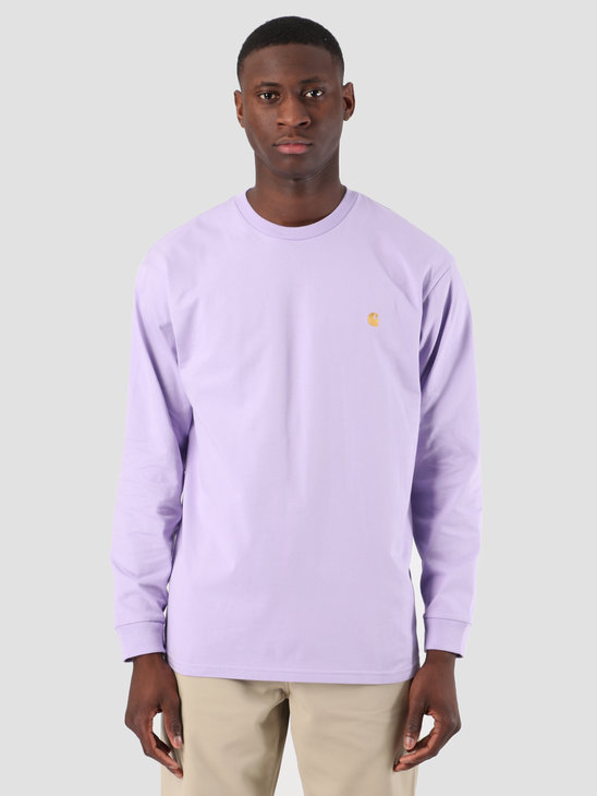 Carhartt WIP Long Sleeve Chase Shirt Soft Lavender Gold 61091000