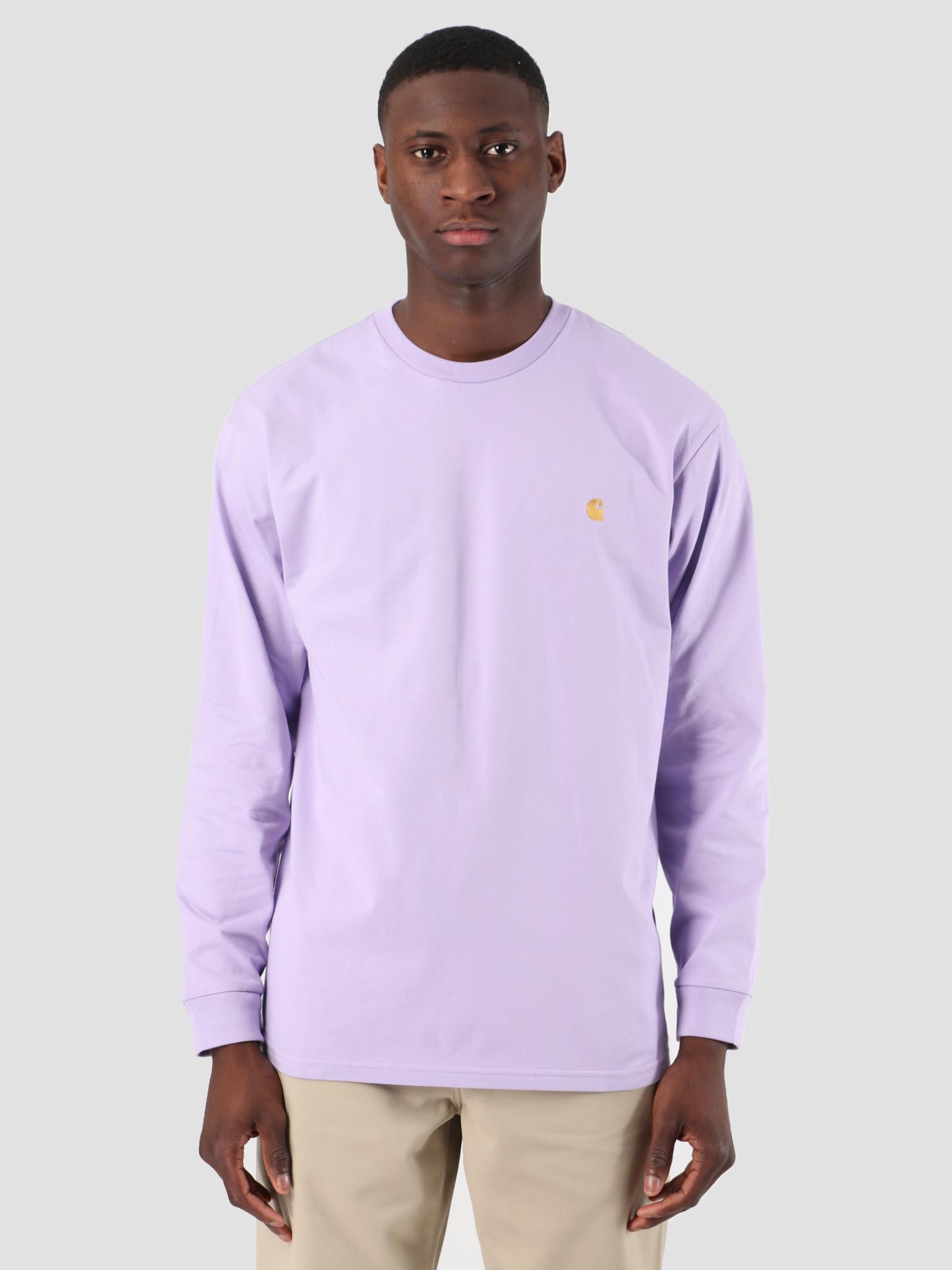 70a26b8d657 Carhartt WIP Carhartt WIP Long Sleeve Chase Shirt Soft Lavender Gold  61091000