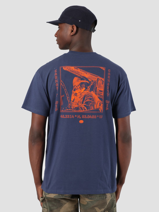 Carhartt WIP Wip Pilot T-Shirt Blue Orange I026416