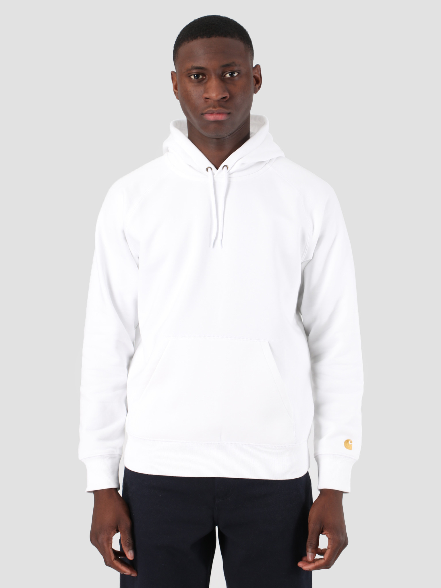 a38b049d703 Carhartt WIP Hooded Chase Sweat White Gold 61102099 - FRESHCOTTON