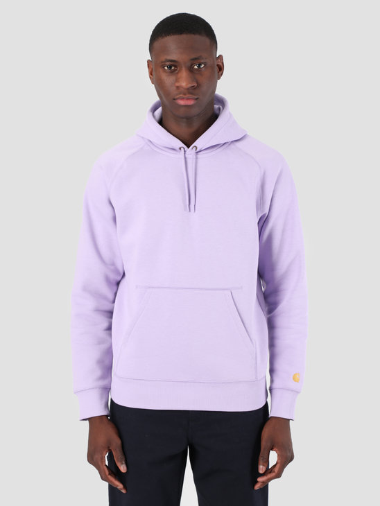 Carhartt WIP Hooded Chase Sweat Soft Lavender Gold 61102099