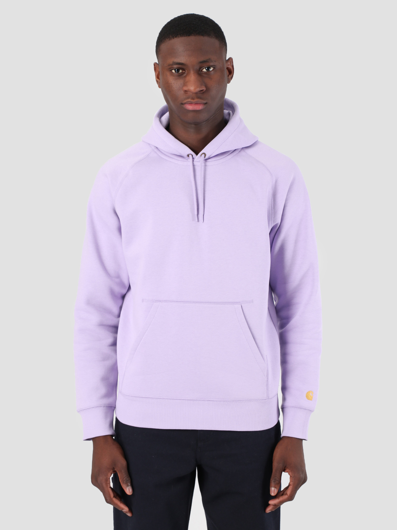 ab6b8d5613f Carhartt WIP Carhartt WIP Hooded Chase Sweat Soft Lavender Gold 61102099