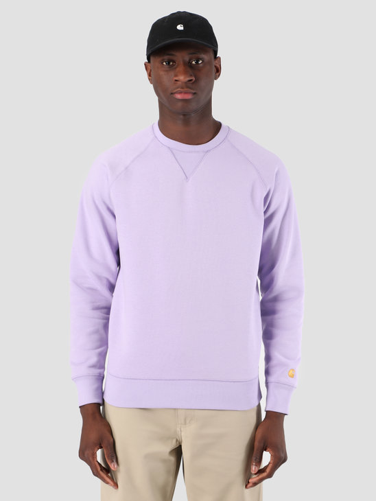 Carhartt WIP Chase Sweat Soft Lavender Gold 61102099