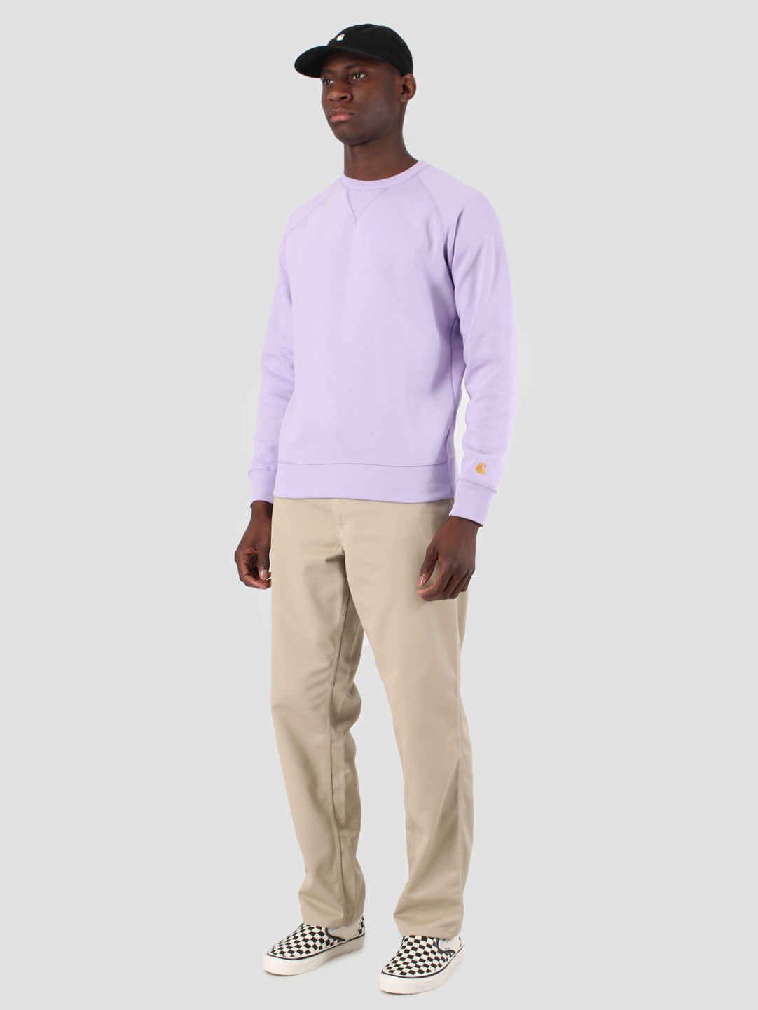 Carhartt WIP Carhartt WIP Chase Sweat Soft Lavender Gold 61102099