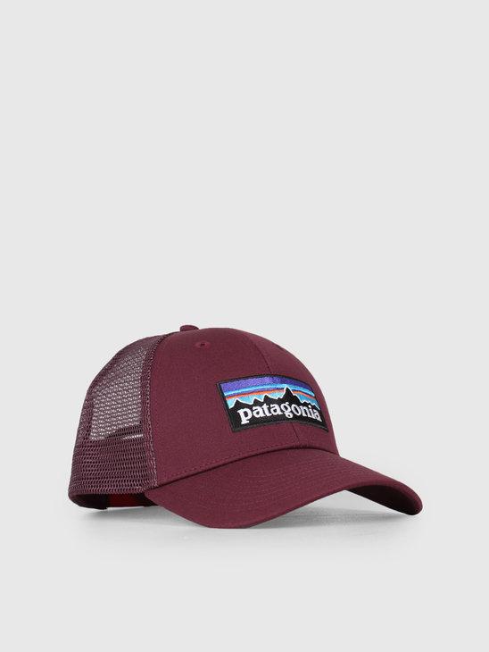 Patagonia P-6 Logo LoPro Trucker Hat Dark Currant 38016