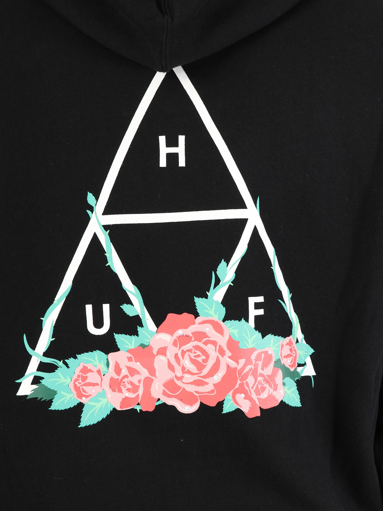 HUF HUF HUF City Rose TT Hoodie Black PF00176