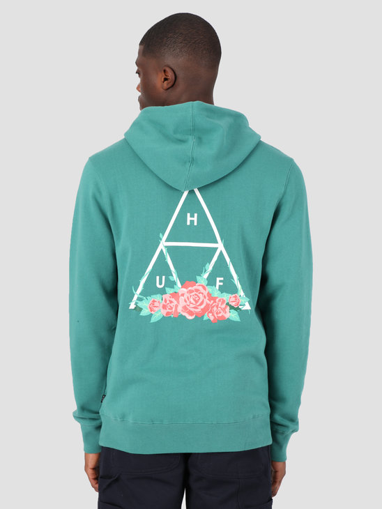 HUF HUF City Rose TT Hoodie Deep Jungle PF00176