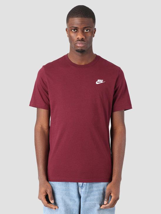 Nike Sportswear T-Shirt Night Maroon White AR4997-681